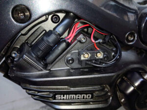 Фото мотора Shimano EP8 со снятой верхней крышкой