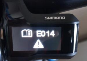 фото ошибки компьютера Shimano E014